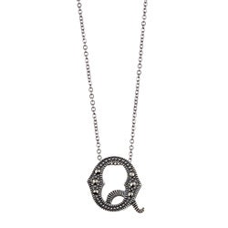MARC Sterling Silver Marcasite Initial 'Q' Necklace