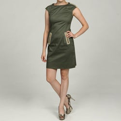 Eliza J Women's Olive Exposed-zipper Dress