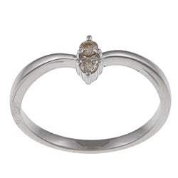 10k White Gold 1/10ct TDW Yellow Diamond Ring