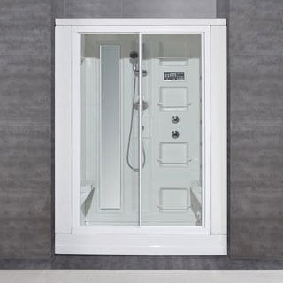 Aston White 86-inch Drop-in 18-jet Steam Shower