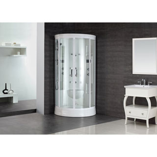 Aston White 88-inch 12-jet Steam Shower