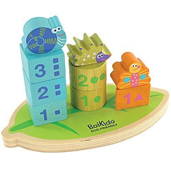 Boikido Wooden Stack Count Shapes Toy - Thumbnail 0