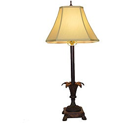 Open Leaves Metal Table Lamp - Thumbnail 0