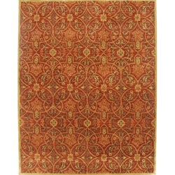 Alliyah Handmade Burgundy New Zealand Blend Wool Rug (10' x 12')