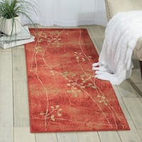 Oliver & James Anish Red Floral Area Rug (2' x 5'9) - 2'x5'9""