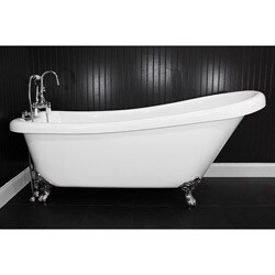 Spa Collection 67-inch Single-slipper Clawfoot Tub and Faucet Pack