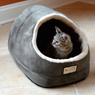 Armarkat Sage Green Faux Suede Cat Bed
