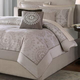 Madison Park Sausalito Tan 6-piece Duvet Cover Set