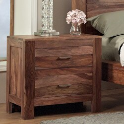 2-drawer Solid Sheesham Nightstand