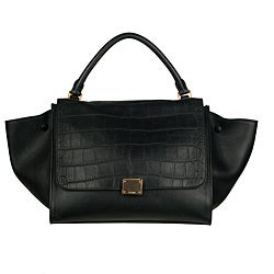 Celine Black Leather Trapeze Shoulder Bag - Thumbnail 0