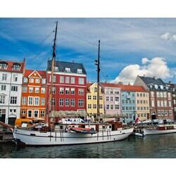 """Stewart Parr """"Copenhagen, Denmark - city and water meet"""" Unframed Photo Print"""