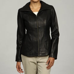 Cole Haan Women's Lambskin Stitch Detail Jacket FINAL SALE