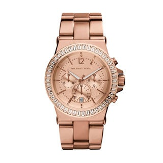 Michael Kors Women's MK5412 Bel Aire Rose Gold-tone Watch - PInk