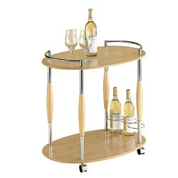 Organize It All 2-tier Light Serving Cart - Thumbnail 0