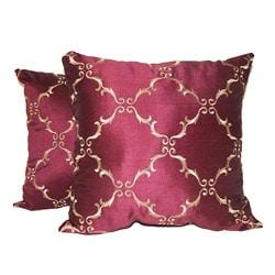 Solistice Diamond Merlot Pillows (Set of 2)
