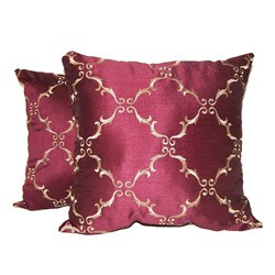 Solistice Diamond Merlot Pillows (Set of 2)