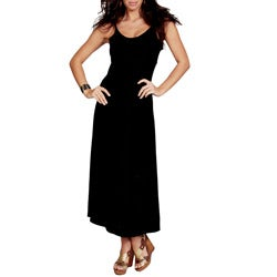 1 World Sarongs Women's Black Sequined Maxi Dress (Indonesia)