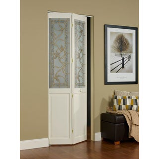 Giverny 24x80.5-inch Glass Over Panel Unfinished Bifold Door