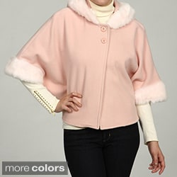 SM2 Women's Wool-blend 2-button Cape