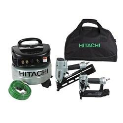 Thumbnail 1, Hitachi KNT65APR Compressor/ Pneumatic Nailer Combo Kit (Refurbished).
