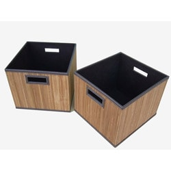 Medium Bamboo Large Milk Crates (Set of 2)