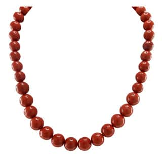 Pearlz Ocean Red Jasper Necklace with Sterling Silver Clasp|https://ak1.ostkcdn.com/images/products/P13845081p.jpg?impolicy=medium