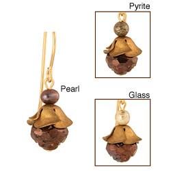 Handmade 'Kalyca' 14k Gold Fill Earrings (3-4 mm)