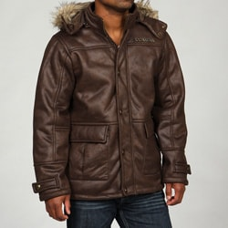 Rocawear Men's Removable Faux Fur Trim Hood Coat