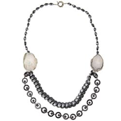 Pearlz Ocean Hematite and Agate Necklace