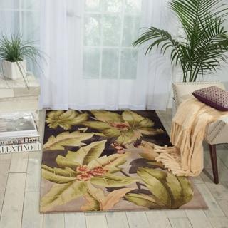 Nourison Hand-Tufted Floral Contours Black Rug (3'6 x 5'6)