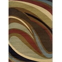 Brown/Gray Area Rug (6'7 x 9'6)