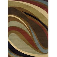 "Brown/Gray Area Rug (6'7 x 9'6) - 6'7"" x 9'6"""