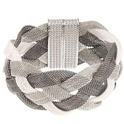 La Preciosa Tri-color Braided Mesh Magnet Lock Bracelet