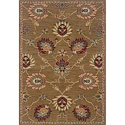 Berkley Tan/ Red Transitional Area Rug (3'10 x 5'5)