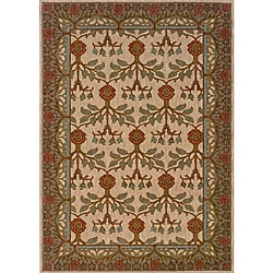 Berkley Beige/ Blue Transitional Area Rug (3'10 x 5'5)