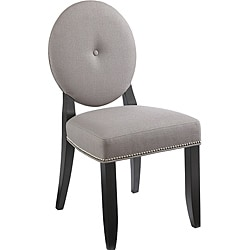 Sunpan Bernice Solid Wood Linen Dining Chair (Set of 2)