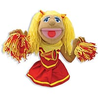 Melissa & Doug Megan Red/Yellow Polyester/Plastic Cheerleader Puppet
