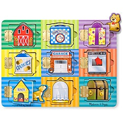 Melissa & Doug Magnetic Hide and Seek Board Play Set