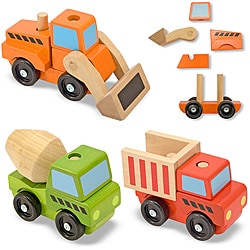 Melissa & Doug Stacking Construction Vehicles Play Set - Thumbnail 0