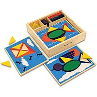 Melissa & Doug Beginner Pattern Blocks Play Set