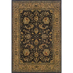 Berkley Black Traditional Area Rug (5'3 x 7'6)