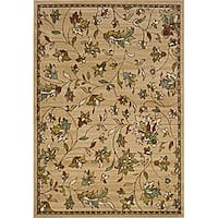 Gold/Brown Transitional Area Rug (6'7 x 9'6)
