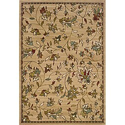 Gold/Brown Transitional Area Rug - 6'7 x 9'6