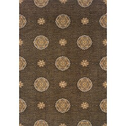 Hayworth Brown/Gold Transitional Area Rug (3'10 x 5'5)