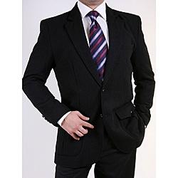 Ferrecci Men's Black Two-button Sportcoat