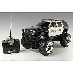 Jada Toys Chevy Tahoe Police Truck Lights and Sounds Remote Control Car |  Overstock com Shopping - The Best Deals on Cars & Trucks