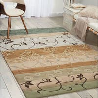 Nourison Hand-tufted Contours Green Rug - 7'3 x 9'3