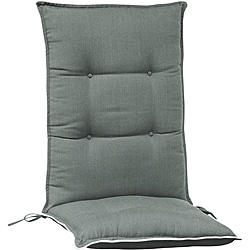 Light Charcoal High Back Patio Chair Cushions (Set of 2)