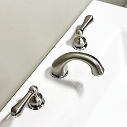 Brushed Nickel 8-inch Widespread Bathroom Faucet