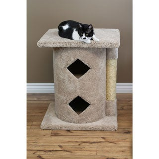 New Cat Condos Brown Carpeted Wood 2-story Cat Cavern